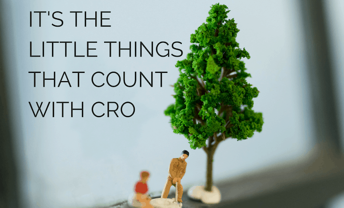 it s the little things that count with cro