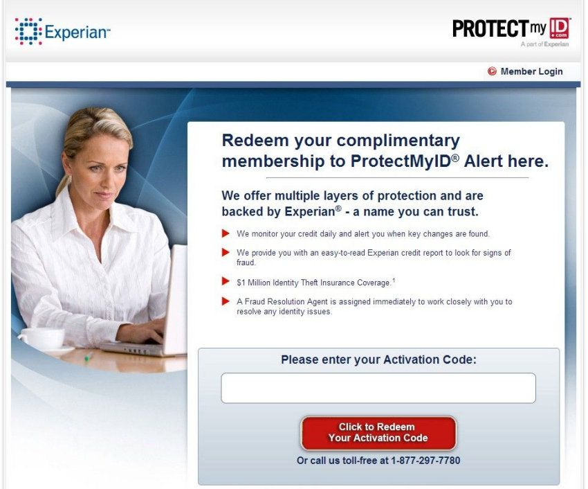 This landing page from Experian keeps the promise.