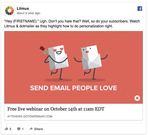 Examples of persuasive copy in online advertising help illustrate the concept. A genius way to apply emotion to a SaaS service on a Facebook ad.