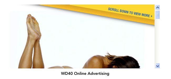 Humor, sex and curiosity are all emotional appeals. Online ad for WD40.