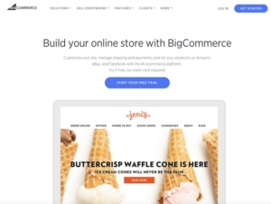 BigCommerce homepage before the website redesign