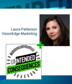 Photo of Laura Patterson and intended consequences logo