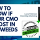 Photo of Laura Patterson of vision edge marketing and words how to know if your CMO is lost in the weeds