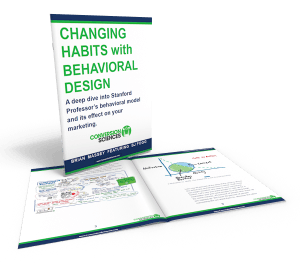 Changing Habits with Behavioral Design cover and selected pages.