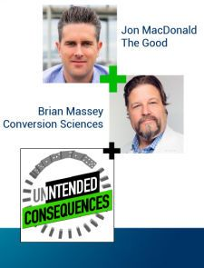 Pictures of Brian Massey and Jon McDonald Intended Consequences Podcast Logo