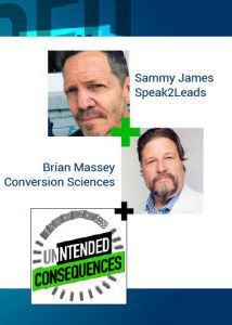 Pictures of Sammy James of Speak 2 Leads and Brian Massey of Conversion Sciences