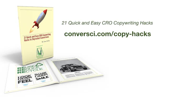 Download these 21 quick and easy CRO copywriting hacks.
