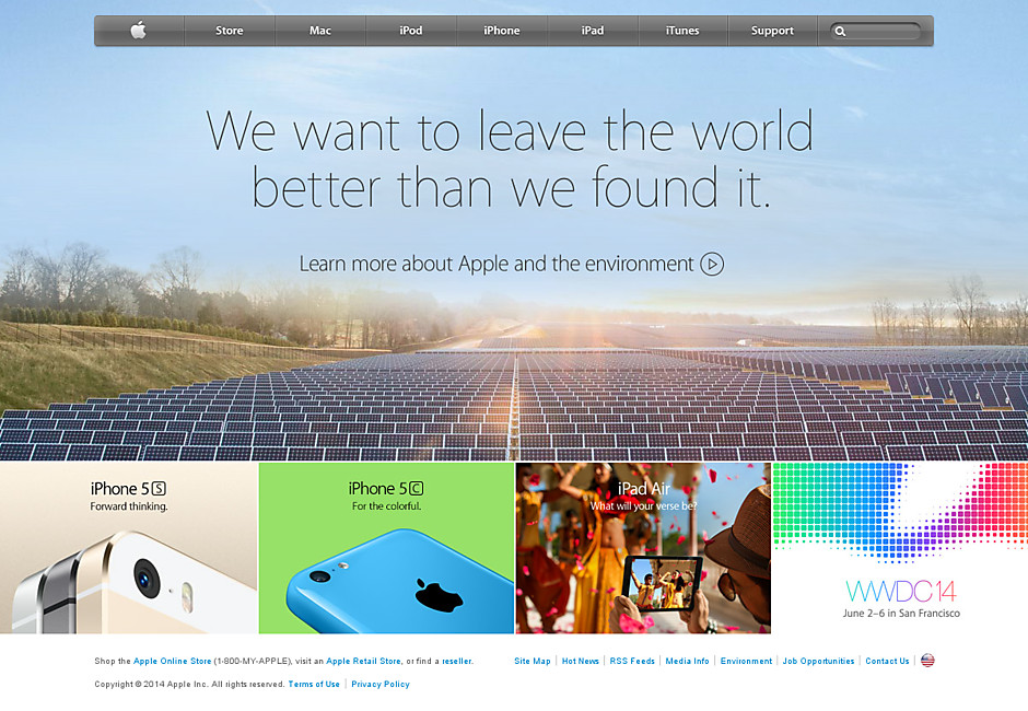 Apple's story appealing to environmentalists