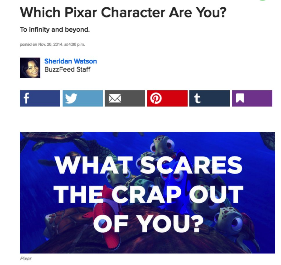 Buzzfeed uses personality tests take advantage of the Barnum Effect.