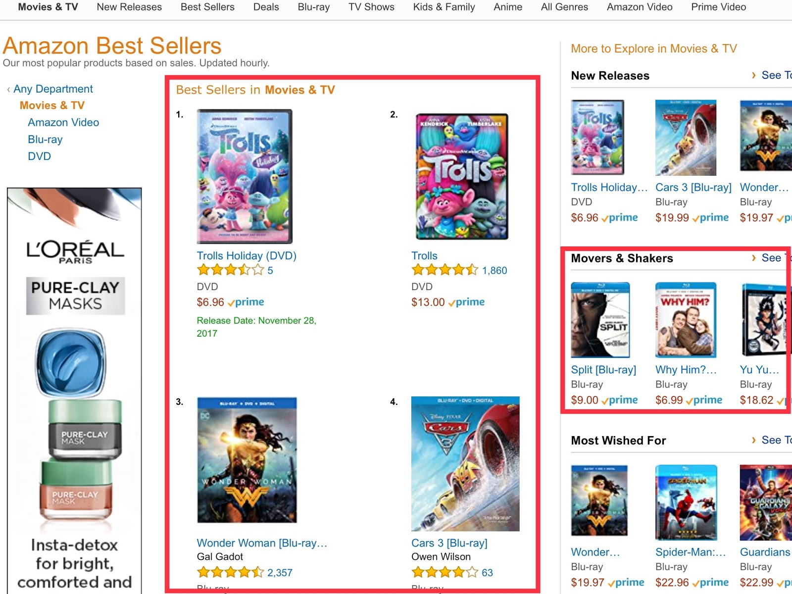 Retail Conversion Lessons: Listing best sellers appeals to those who are looking for suggestions.