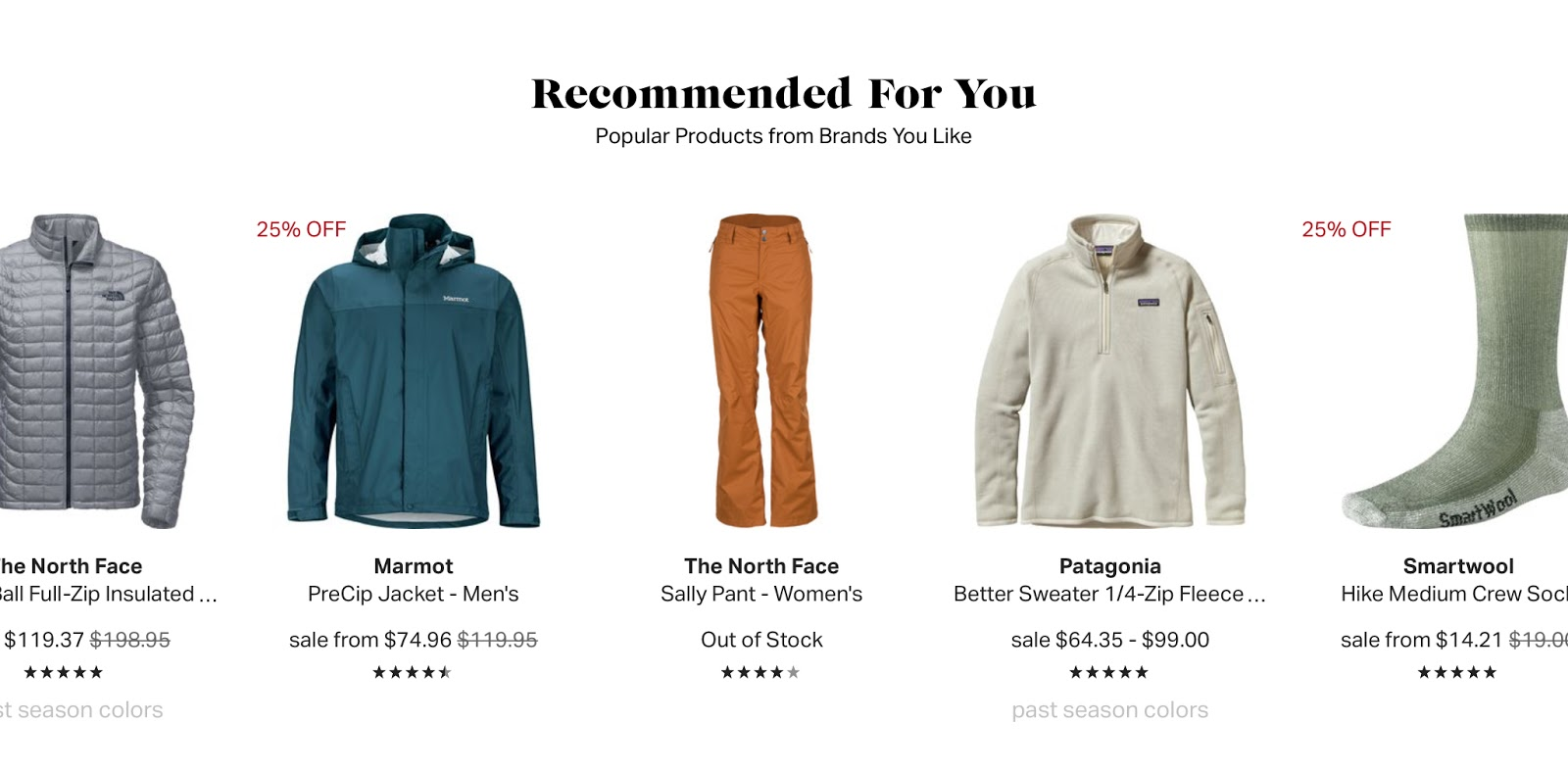 This recommendation did a poor job. I'm not a woman. It would have been better had they saved my previous searches.