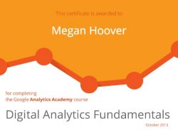 Google Digital Analytics Fundamentals - M Hoover