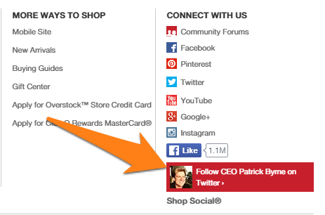 Overstock gives you an easy way to access its CEO