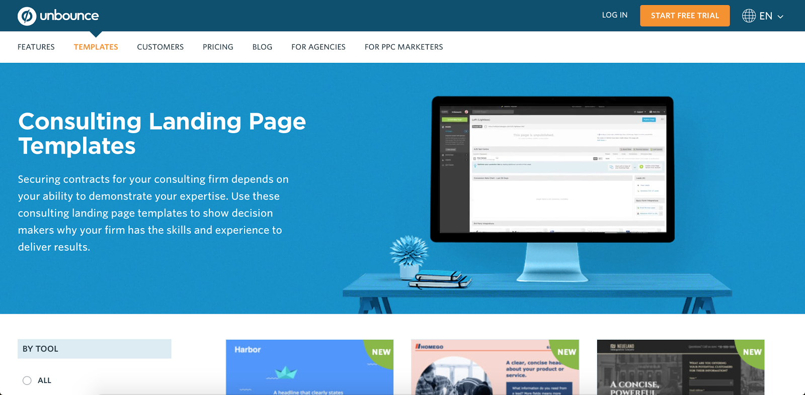 This page is targeted specifically to consultanta building landing pages