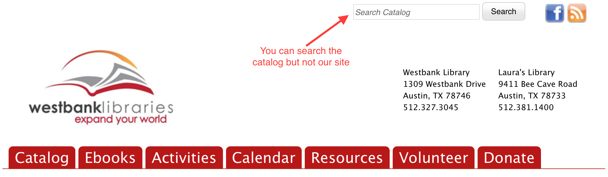 We changed the site search bar to be a catalog search, but it still wasn't perfect