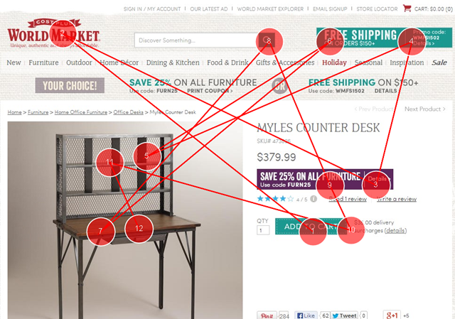 """The click target is """"closer"""" to where the eyes -- and mouse -- are likely to be on this page."""