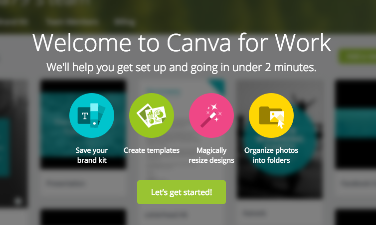 canva getting started