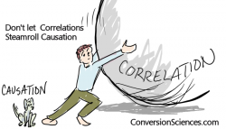 Don't let correlations steamroll causation.