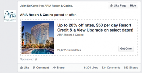 facebook offer ad new layout