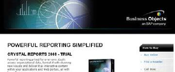 Where would you click to get a Crystal Reports trial?