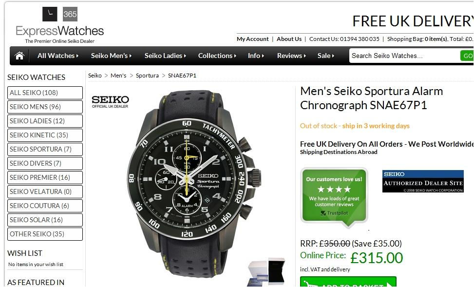 "Replacing ""Never Beaten on Price"" with a Seiko authorized dealer badge ""borrows"" brand trust from Seiko"