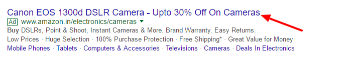 Highlight your special discount in the ad itself