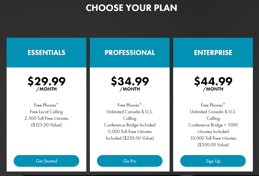 "This pricing page offers no visual cues to ""Help me choose."""