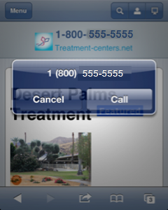 Click to call is crucial for mobile conversion rates.