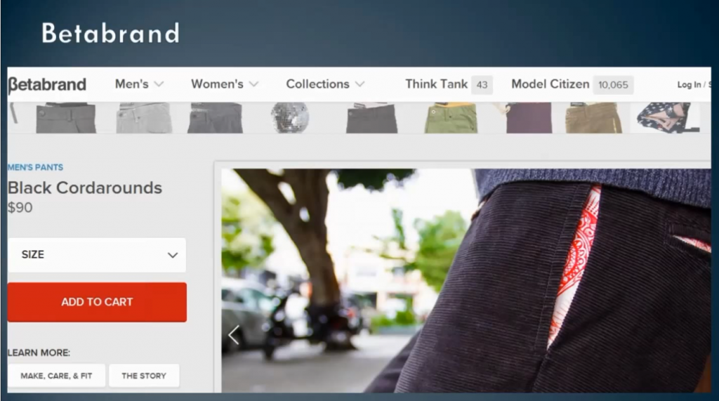 Betabrand example