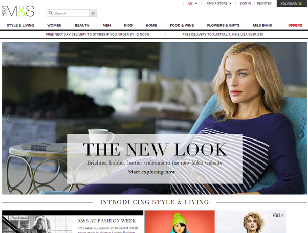 After two years and approximately $180 million spent, Marks and Spencer launched a new website.
