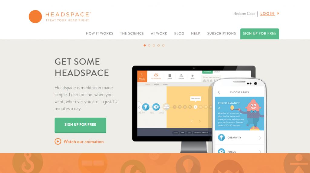 Tagline examples: Headspace's tagline makes mental health common sense