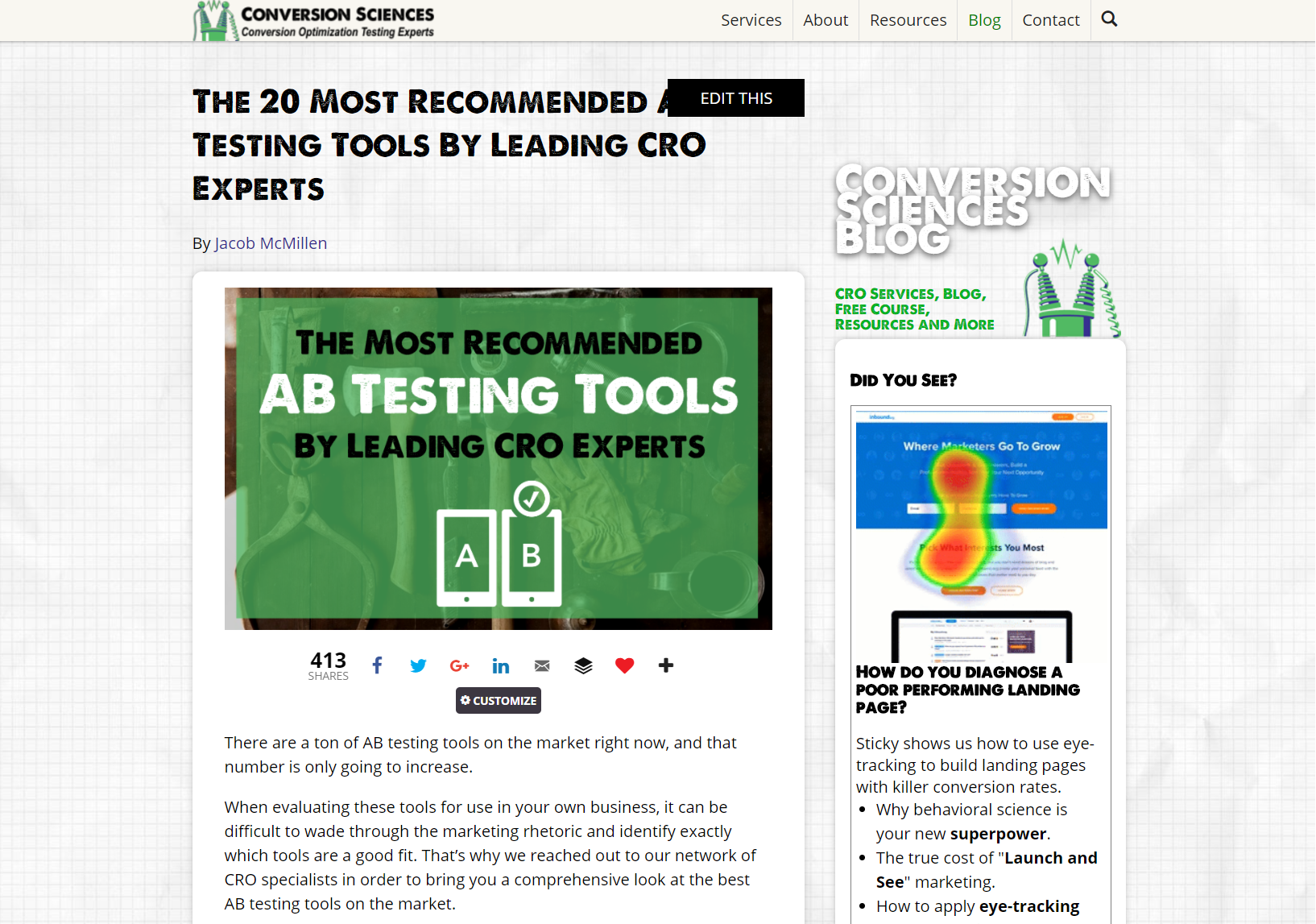 Conversion Sciences review of top A/B testing tools