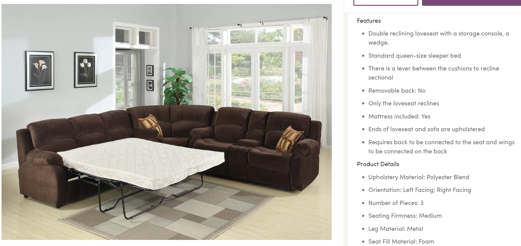 Wayfair provides a very informative shopping experience.