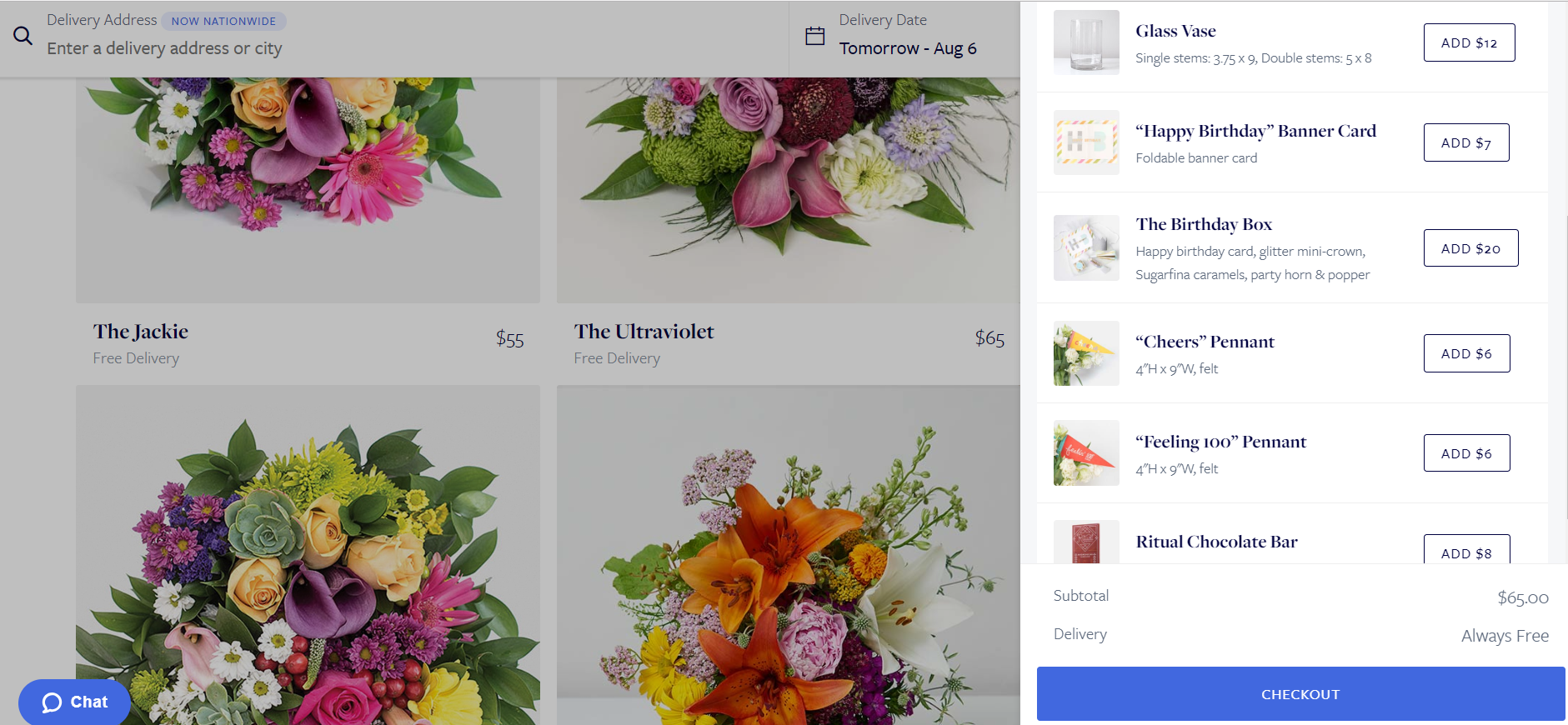 """UrbanStems is uses the """"candy isle"""" concept"""