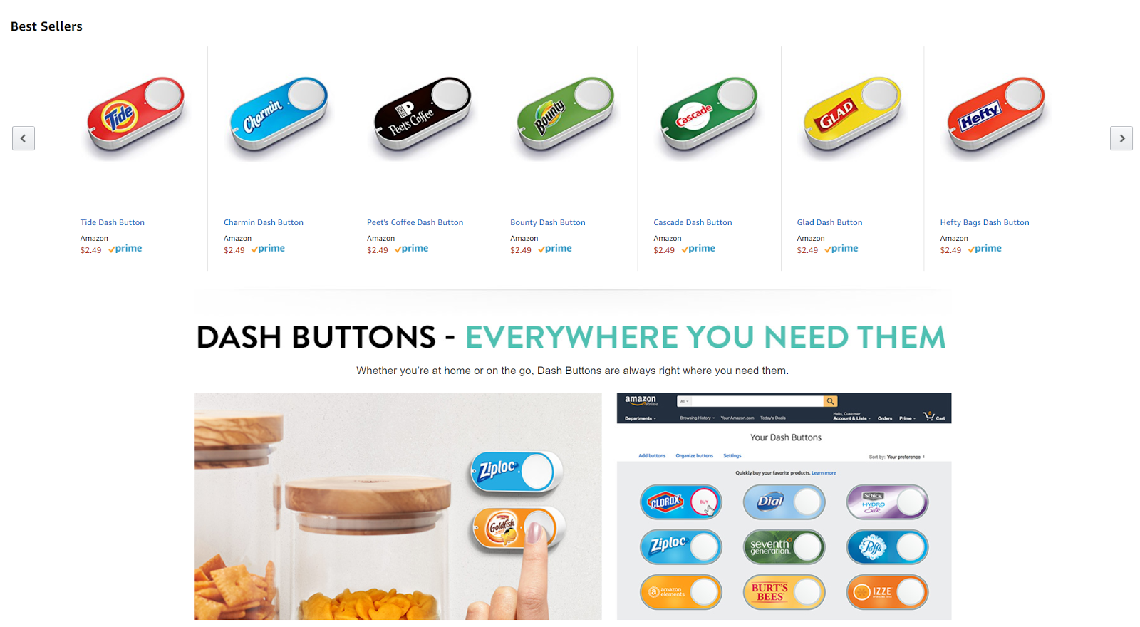 """Amazon lets you """"Buy it Again"""" even when you're not online."""