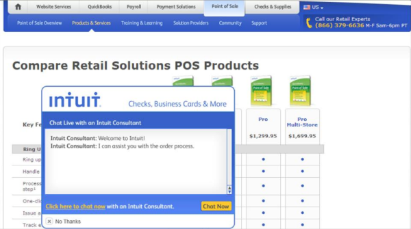 Proactively offering live chat increased sales for Intuit by 211%