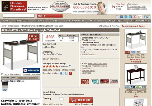 The add to cart button here is closer to the desired place. The box around it will deflect visitors' gazes.