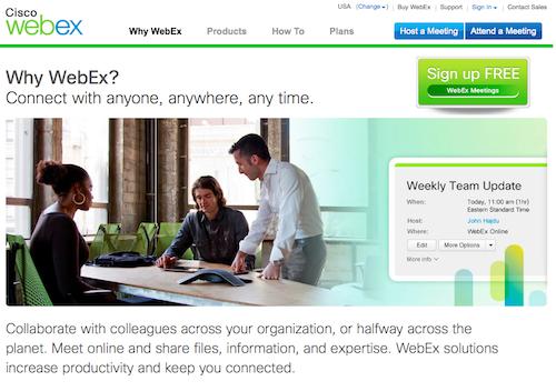 webex homepage